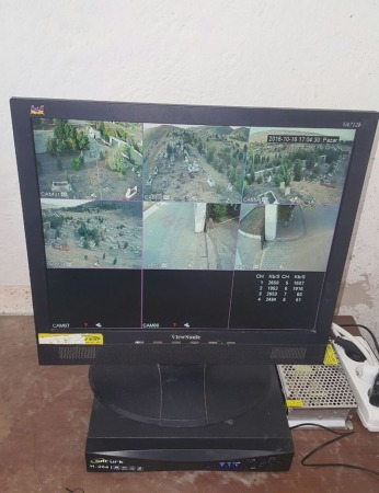 mezarlığımıza son sistem kamera ve ses sistemimizi kurduk